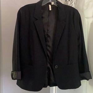 Black fitted blazer